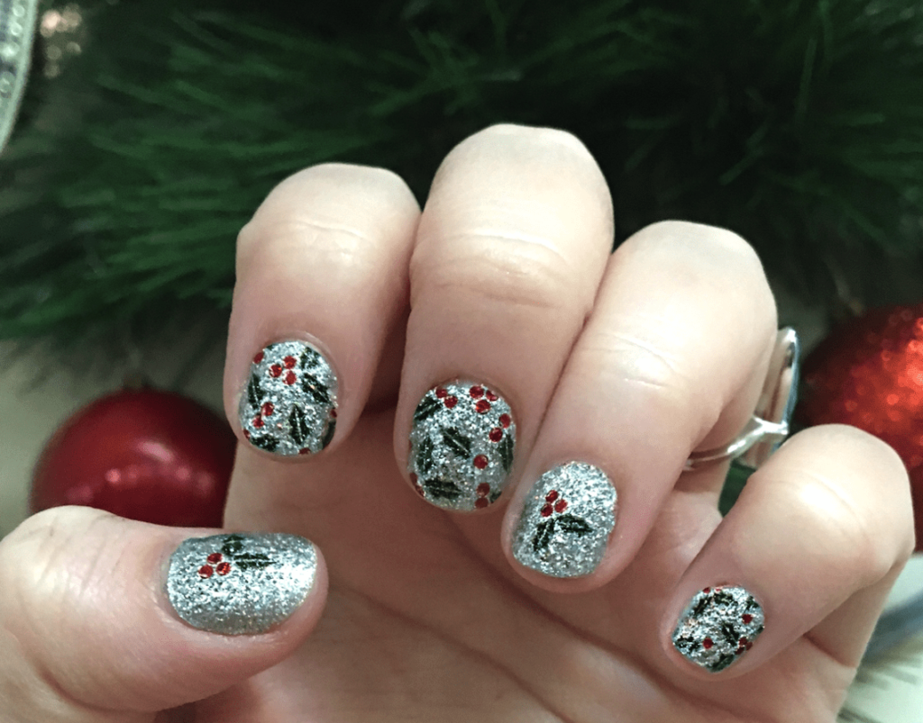 Color Street Holly and Glitter Holiday Nails